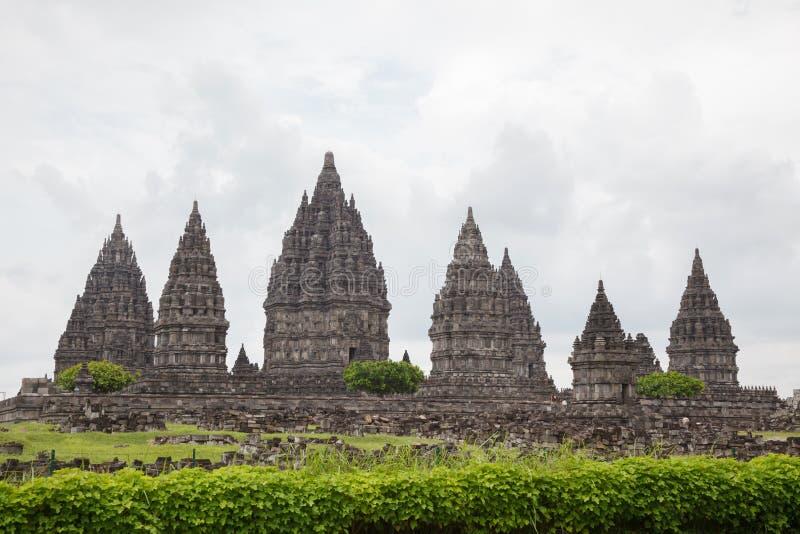 Ruína do templo de Prambanan, Yogyakarta, Java, Indonésia imagem de stock