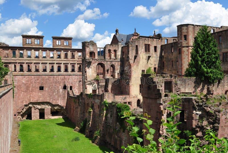 Ruína famosa do castelo Heidelberg fotos de stock royalty free