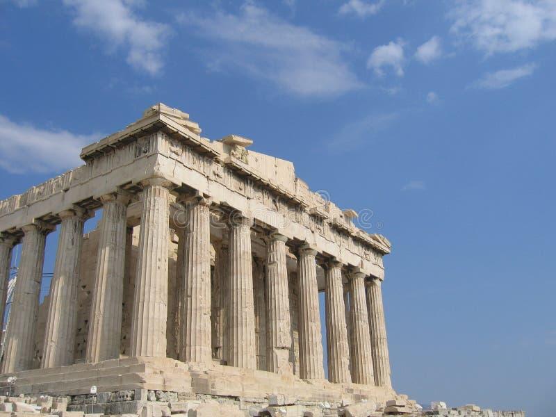 Ruína grega em Atenas imagens de stock
