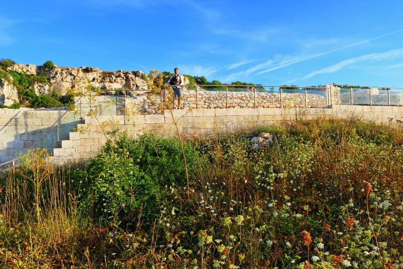 Ruínas antigas Bulgária do bryag de Kamen foto de stock