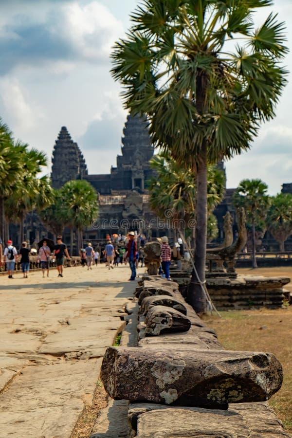 Ruínas antigas de Angkor Wat, Camboja fotos de stock