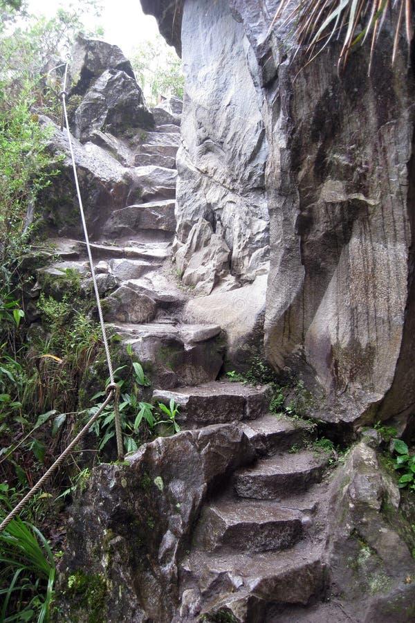 Ruínas antigas de Huayna Picchu imagens de stock