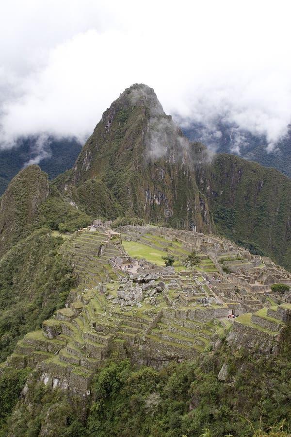Ruínas antigas de Machu Picchu fotografia de stock royalty free