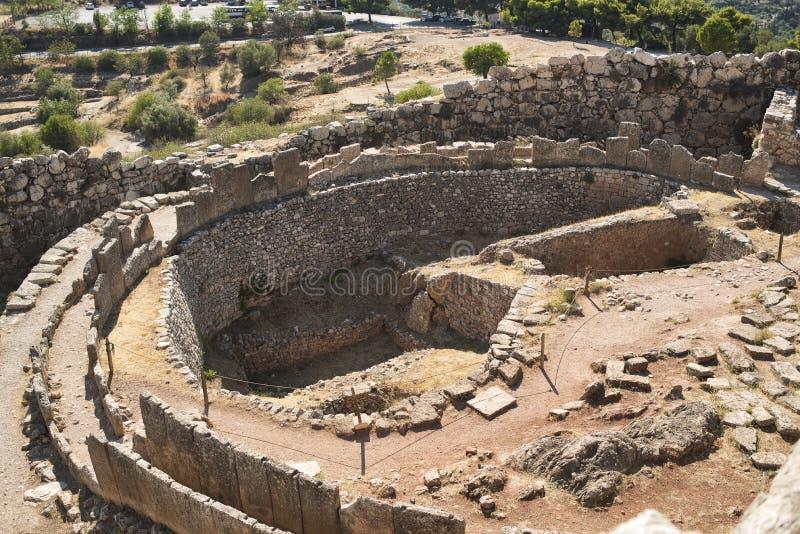 Ruínas antigas de Mycenae, Grécia foto de stock royalty free