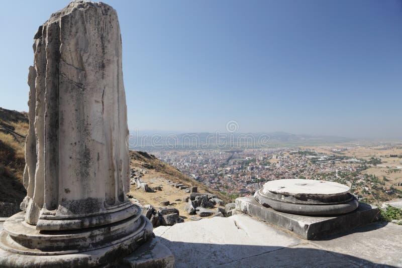 Ruínas antigas de Pergamon fotografia de stock