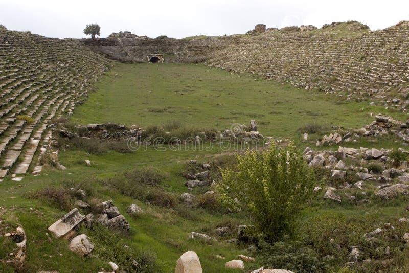 Ruínas antigas dos Aphrodisias, Turquia egeia fotos de stock