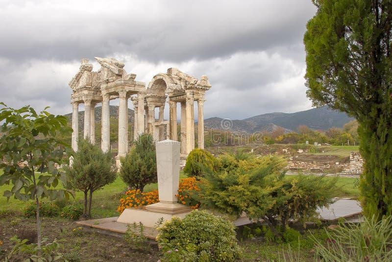 Ruínas antigas dos Aphrodisias, Turquia egeia foto de stock royalty free