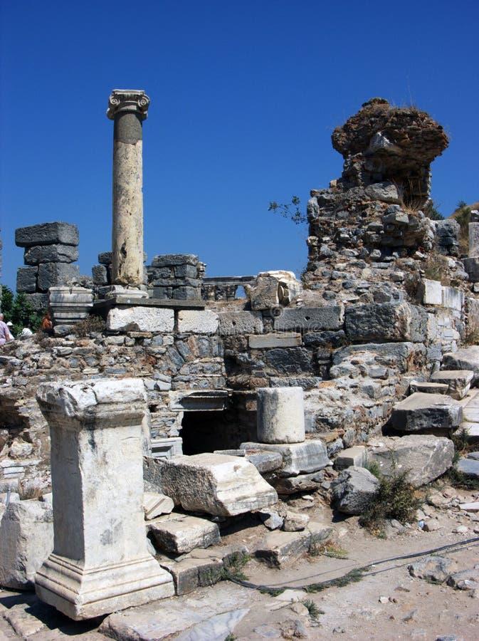 Ruínas antigas em Ephesus, Turquia imagem de stock royalty free