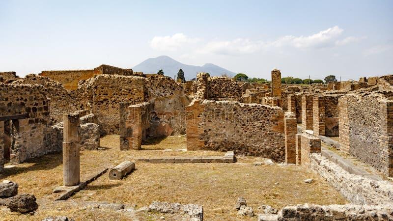Ruínas antigas em Pompeii, Itália imagens de stock