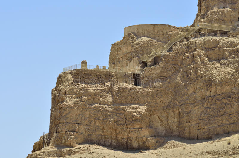 Ruínas antigas na montanha de Masada. foto de stock