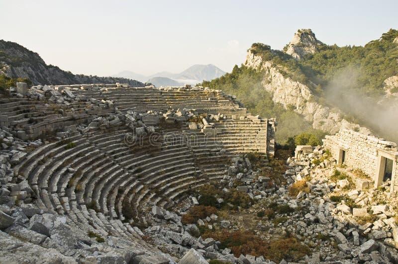 Ruínas archaeological de Thermessos, Turquia fotos de stock royalty free
