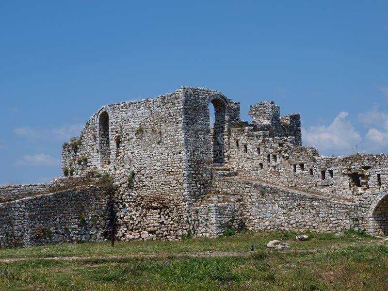 Ruínas, Berat, Albânia imagem de stock