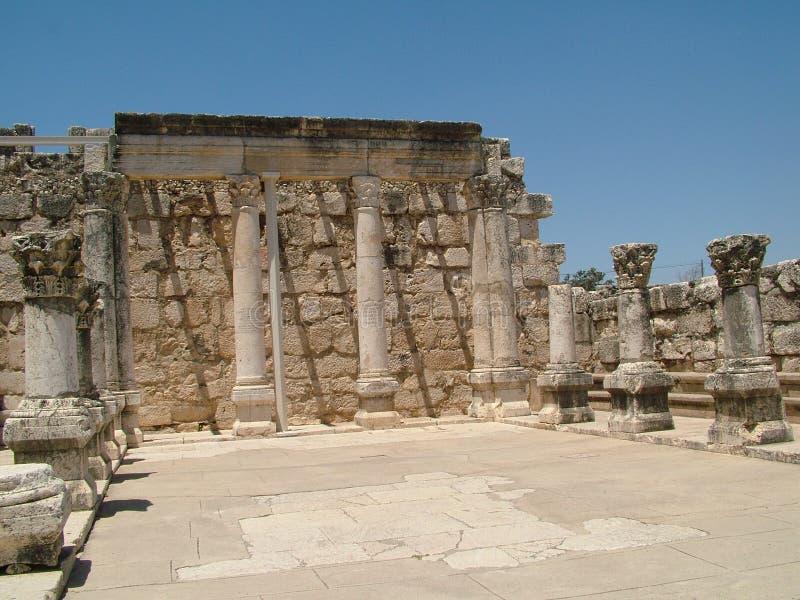 ruínas Caesarea Maritima fotos de stock