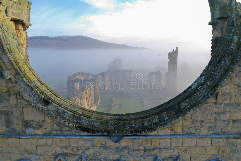 Ruínas da abadia de Byland foto de stock royalty free