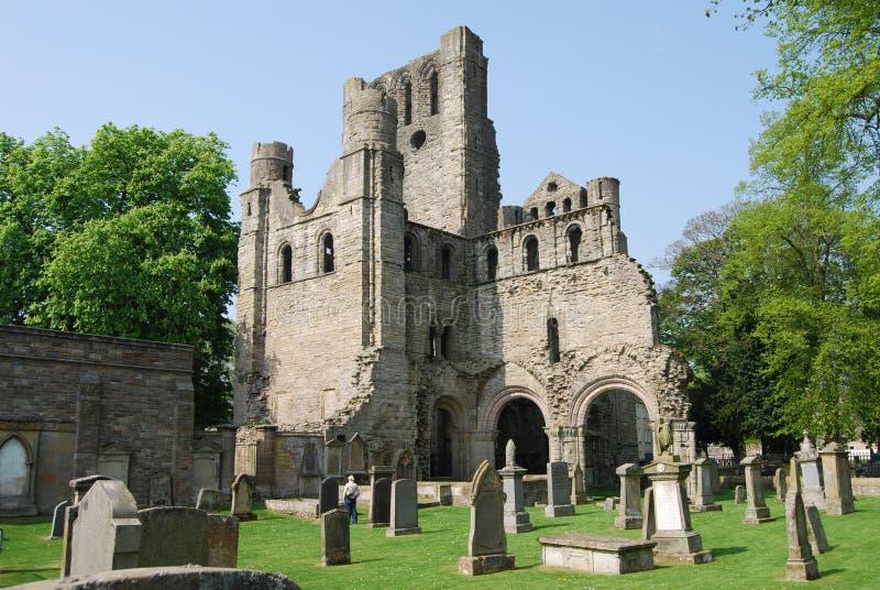 Ruínas da abadia de Kelso fotografia de stock