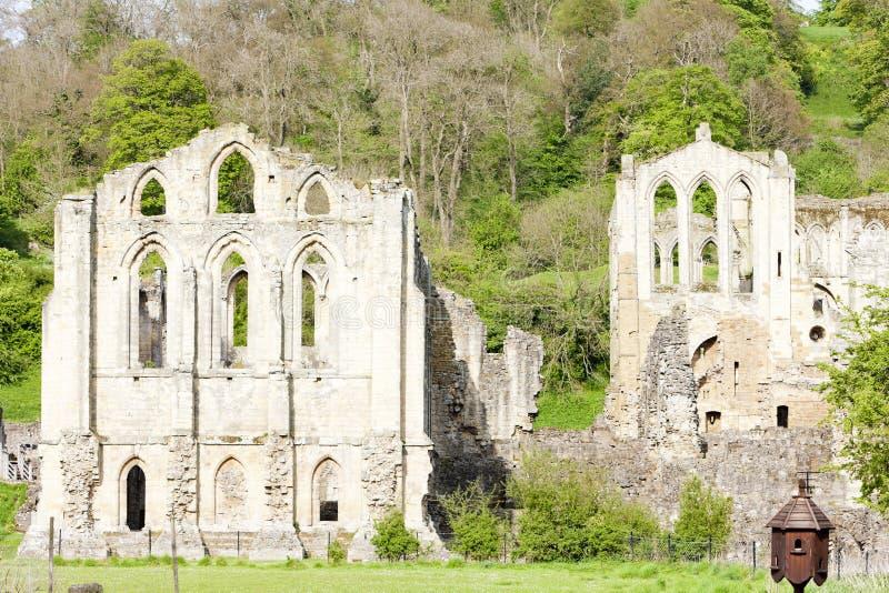 ruínas da abadia de Rievaulx, North Yorkshire, Inglaterra fotografia de stock