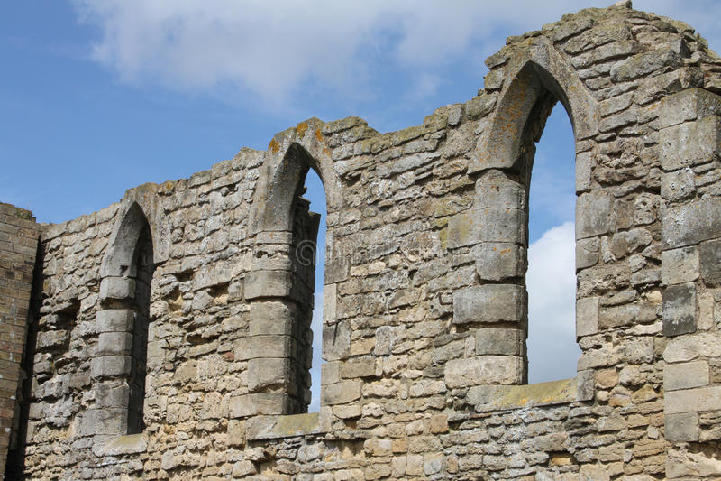 Ruínas da abadia de Tupolme, perto dos termas Lincolnshire de Woodhall, fotografia de stock
