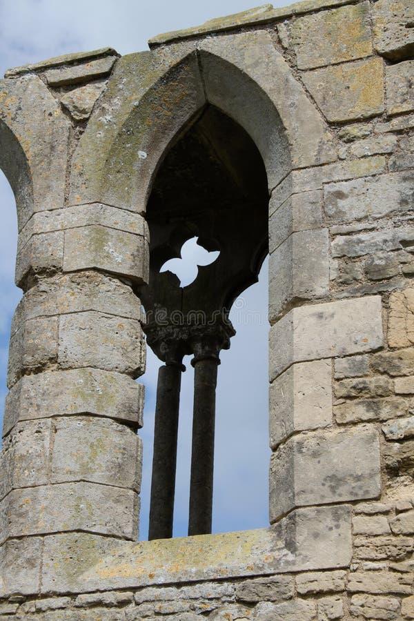 Ruínas da abadia de Tupolme, perto dos termas Lincolnshire de Woodhall, imagem de stock royalty free