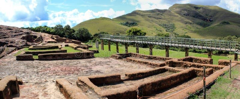 Ruínas da arqueologia do EL Fuerte, Bolívia fotos de stock royalty free