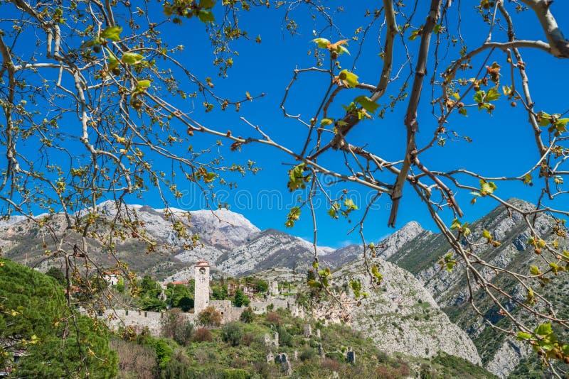 Ruínas da barra de Stari em Montenegro fotos de stock royalty free