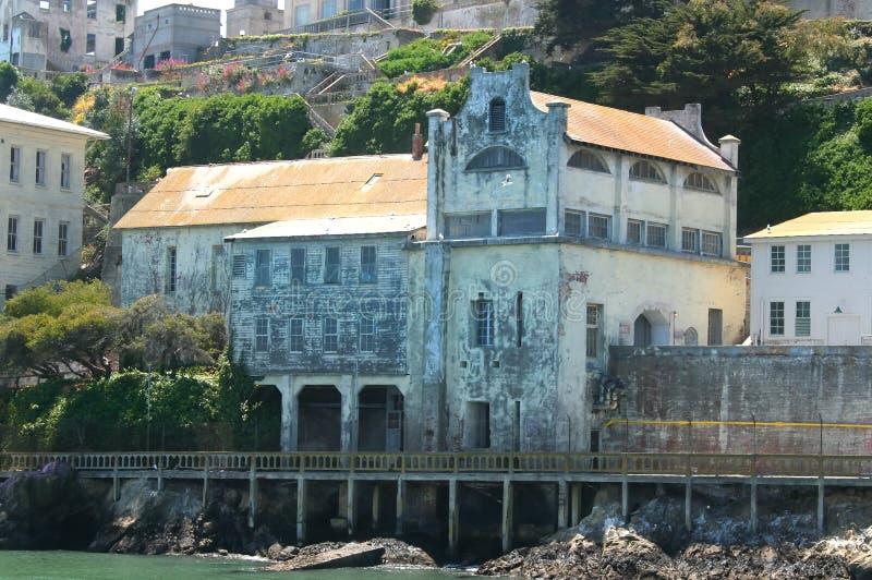 Ruínas da capela das forças armadas de Alcatraz foto de stock royalty free