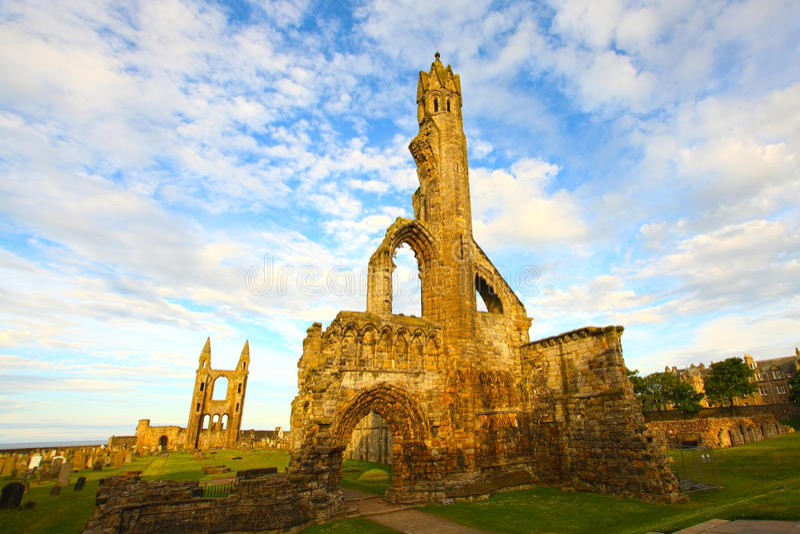Ruínas da catedral do St Andrews imagem de stock
