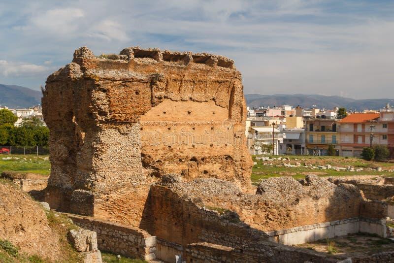 Ruínas da cidade antiga de Argos fotografia de stock
