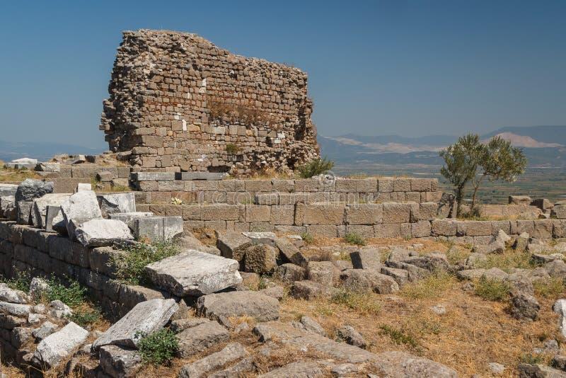 Ruínas da cidade antiga de Pergamon imagem de stock royalty free