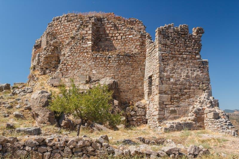 Ruínas da cidade antiga de Pergamon imagem de stock