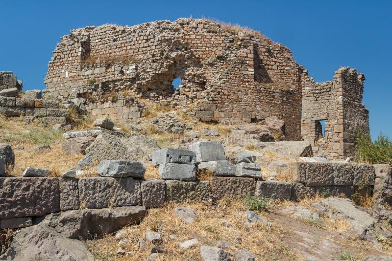 Ruínas da cidade antiga de Pergamon foto de stock