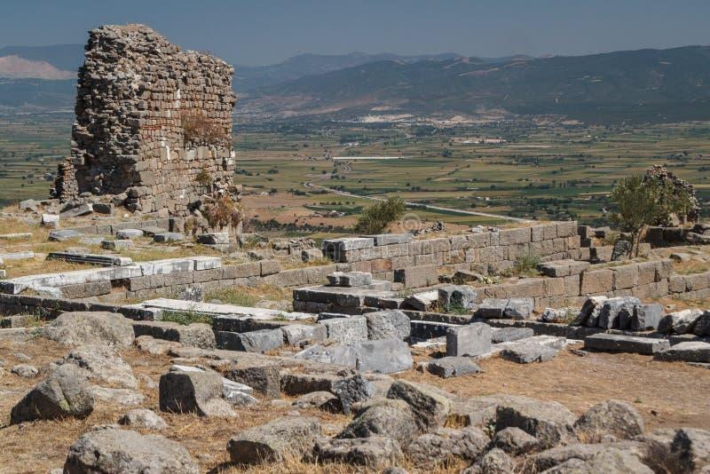 Ruínas da cidade antiga de Pergamon fotos de stock royalty free
