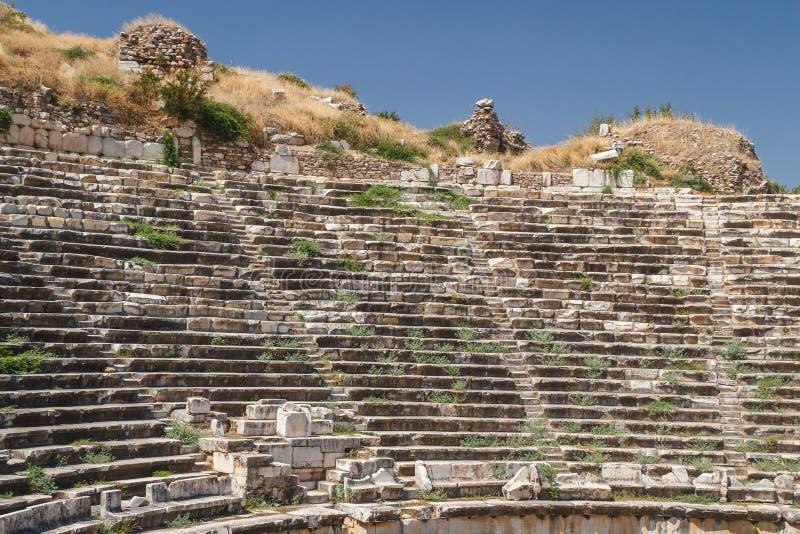 Ruínas da cidade antiga dos Aphrodisias fotografia de stock