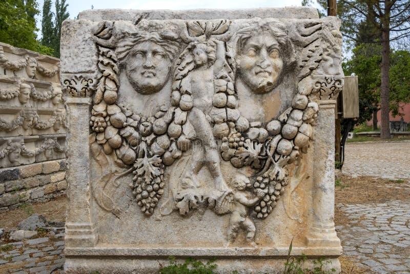 Ruínas da cidade antiga dos aphrodisias, Aydin, Turquia imagens de stock