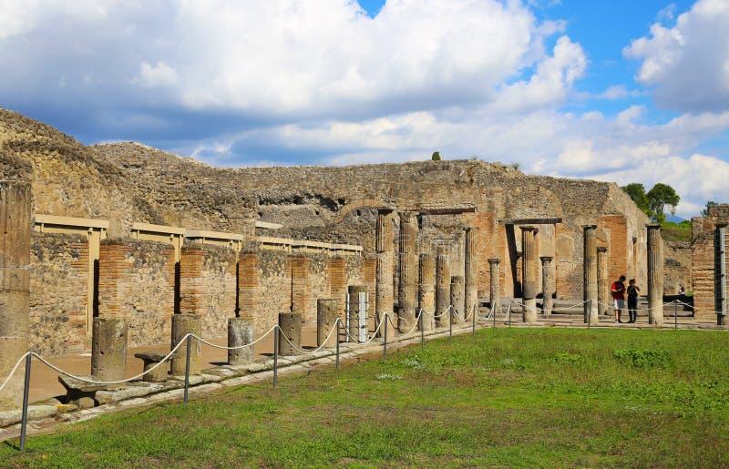 Ruínas da cidade antiga Pompeii imagem de stock