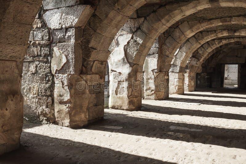 Ruínas da cidade antiga Smyrna Izmir, Turquia imagens de stock