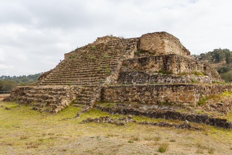 Ruínas da cidade do pre-hispânico de Cacaxtla foto de stock royalty free