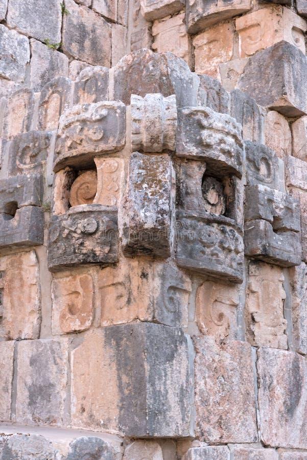 Ruínas da cidade maia antiga Uxmal O patrimônio mundial do UNESCO senta-se fotos de stock royalty free
