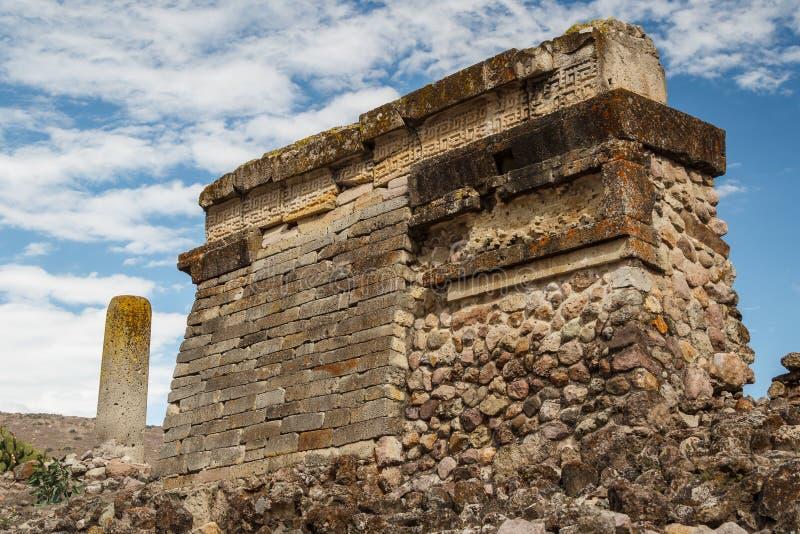 Ruínas da cidade Mitla de Zapotec do pre-hispânico imagens de stock