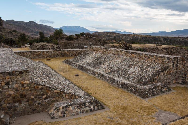 Ruínas da cidade Yagul de Zapotec do pre-hispânico fotografia de stock