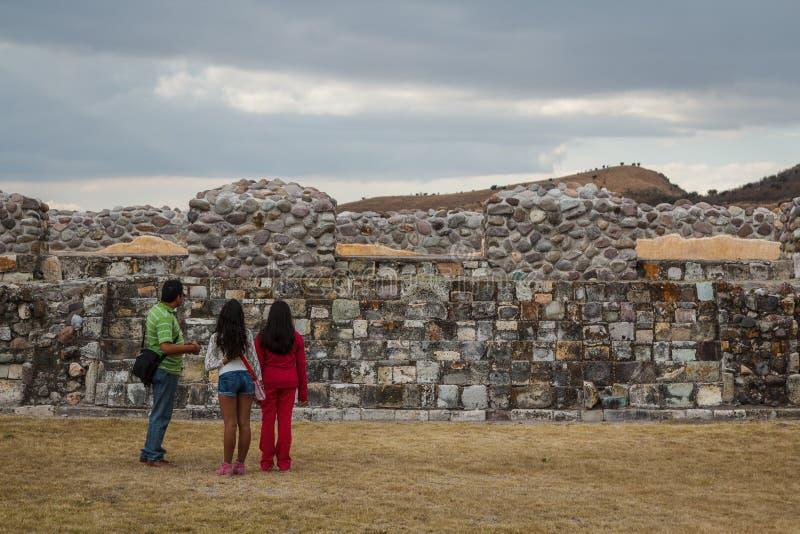Ruínas da cidade Yagul de Zapotec do pre-hispânico imagem de stock