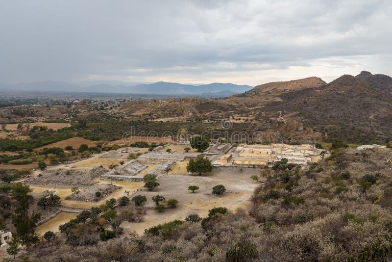 Ruínas da cidade Yagul de Zapotec do pre-hispânico, Puebla imagens de stock