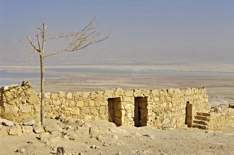 Ruínas da fortaleza antiga Masada, Israel. foto de stock royalty free