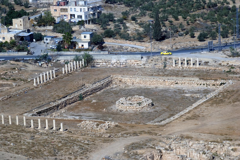 Ruínas da fortaleza de Herod, o grande, Herodium, Palestina fotografia de stock royalty free