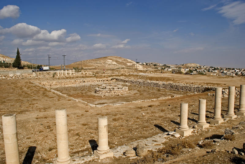 Ruínas da fortaleza de Herod, o grande, Herodium, Palestina imagem de stock
