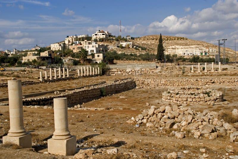 Ruínas da fortaleza de Herod, o grande, Herodium, Palestina imagens de stock royalty free
