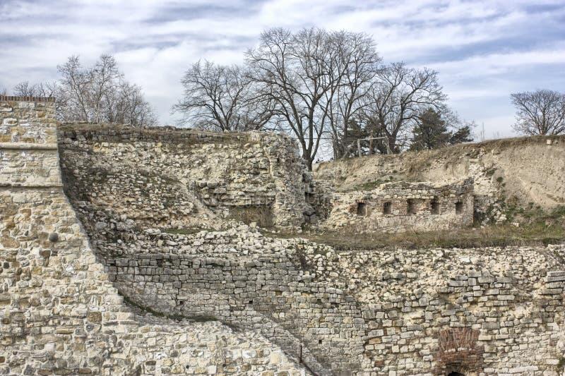Ruínas da fortaleza de Kalemegdan fotos de stock royalty free