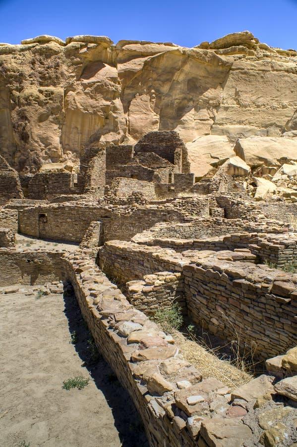 Ruínas da garganta de Chaco foto de stock royalty free