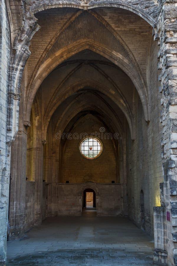 Ruínas da igreja gótico imagens de stock