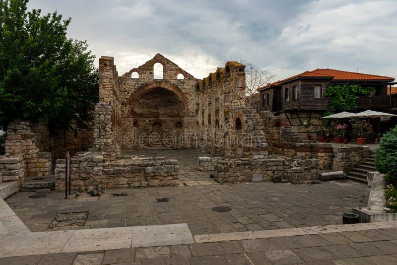 Ruínas da igreja século construído Sófia de Saint do 5o-6o fotos de stock