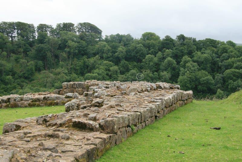 Ruínas da parede de Hadrians em Birdoswald imagens de stock royalty free